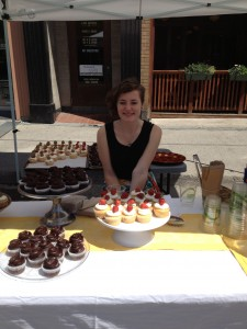 Frances rocked the cupcake stand for Black Honey Desserts.  I tried my best to not give in.